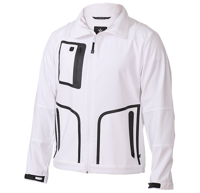 City Softshell White M