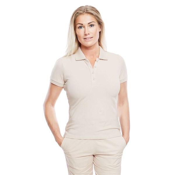 Ladies Polo Shirt Dusty Pink