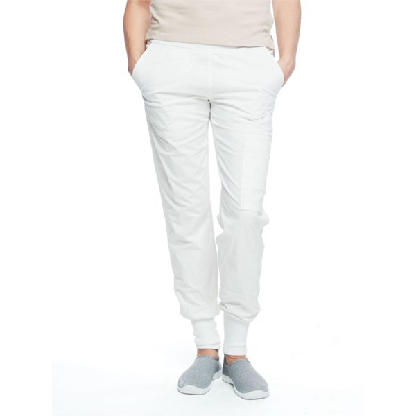 Ladies Easy Pant White